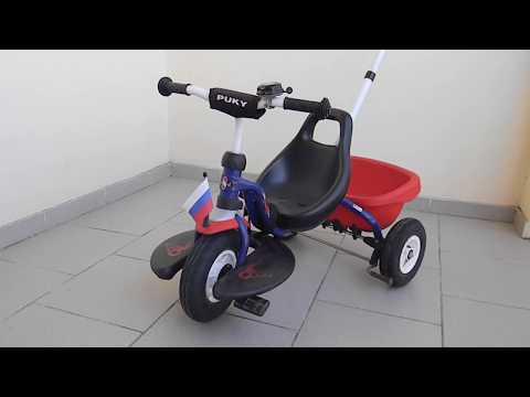 Снятие переднего колеса трёхколёсного велосипеда Puky CAT 1S/1L/1SL