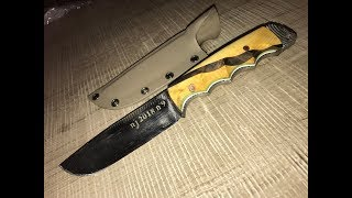 Fabrication couteau a partir d'une lime, gravure et étuis kydex DIY