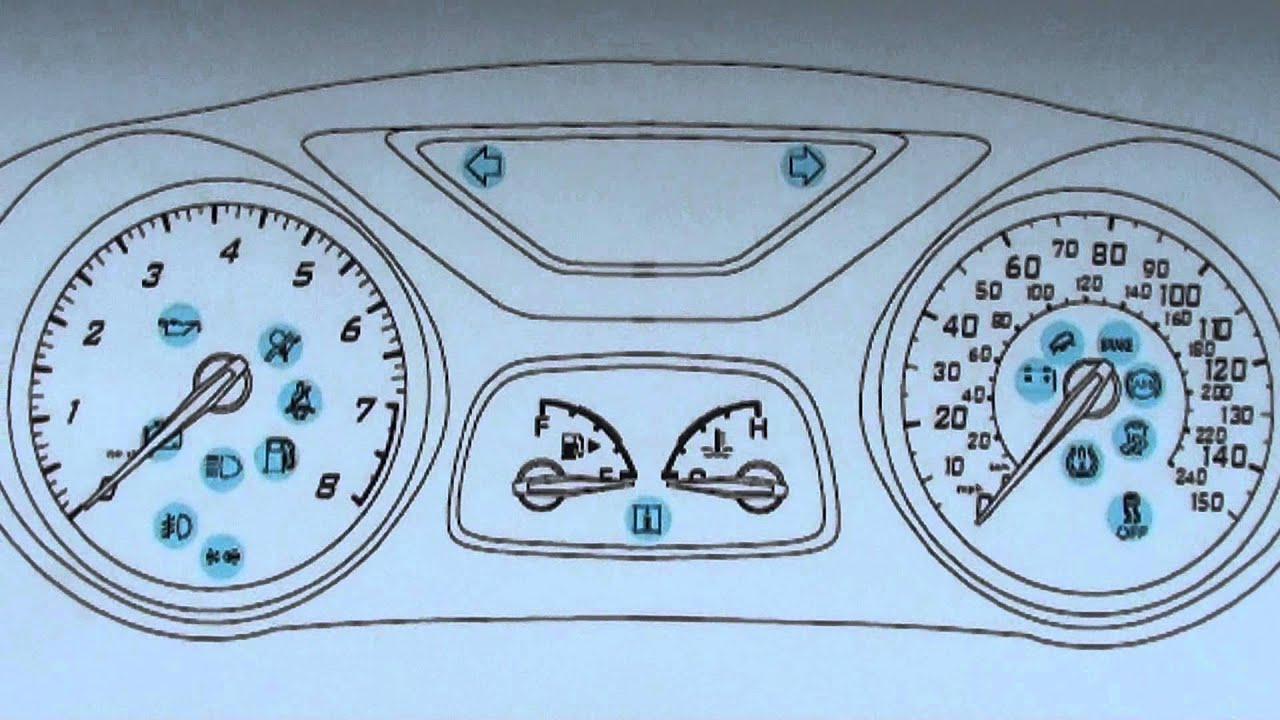Ford Fiesta Mk6 Dashboard Warning Lights Symbols What They