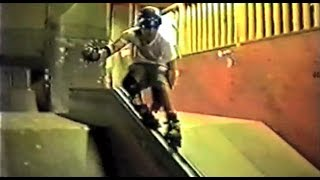 Old School aggressive Inline  skating in Asbury Park NJ