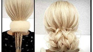 Быстрая и легкая Свадебная и Вечерняя прическа.Пошагово!Fast and easy wedding and evening hairstyle