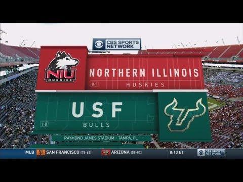 September 10, 2016 - Northern Illinois Huskies vs. South Florida Bulls Full Football Game