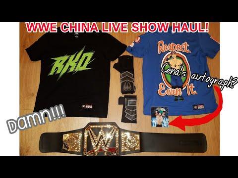 WWE CHINA LIVE SHOW PICKUP HAUL!!!(JOHN CENA'S AUTOGRAPH?!?)