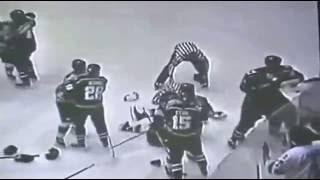 Referee vs Player FIGHT Hockey