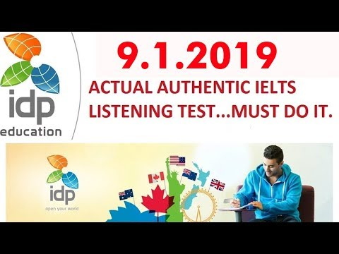 LATEST IDP IELTS LISTENING PRACTICE TEST 2019 | 09/01/2019