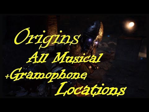 Origins all Musical parts locations all musical disk locations Gramophone location bo3 Zombies