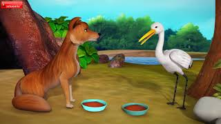 The Fox and the Crane Telugu Moral Stories for Children | Infobells