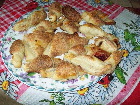 Печенье из готового слоеного теста.( тесто без дрожжевое)