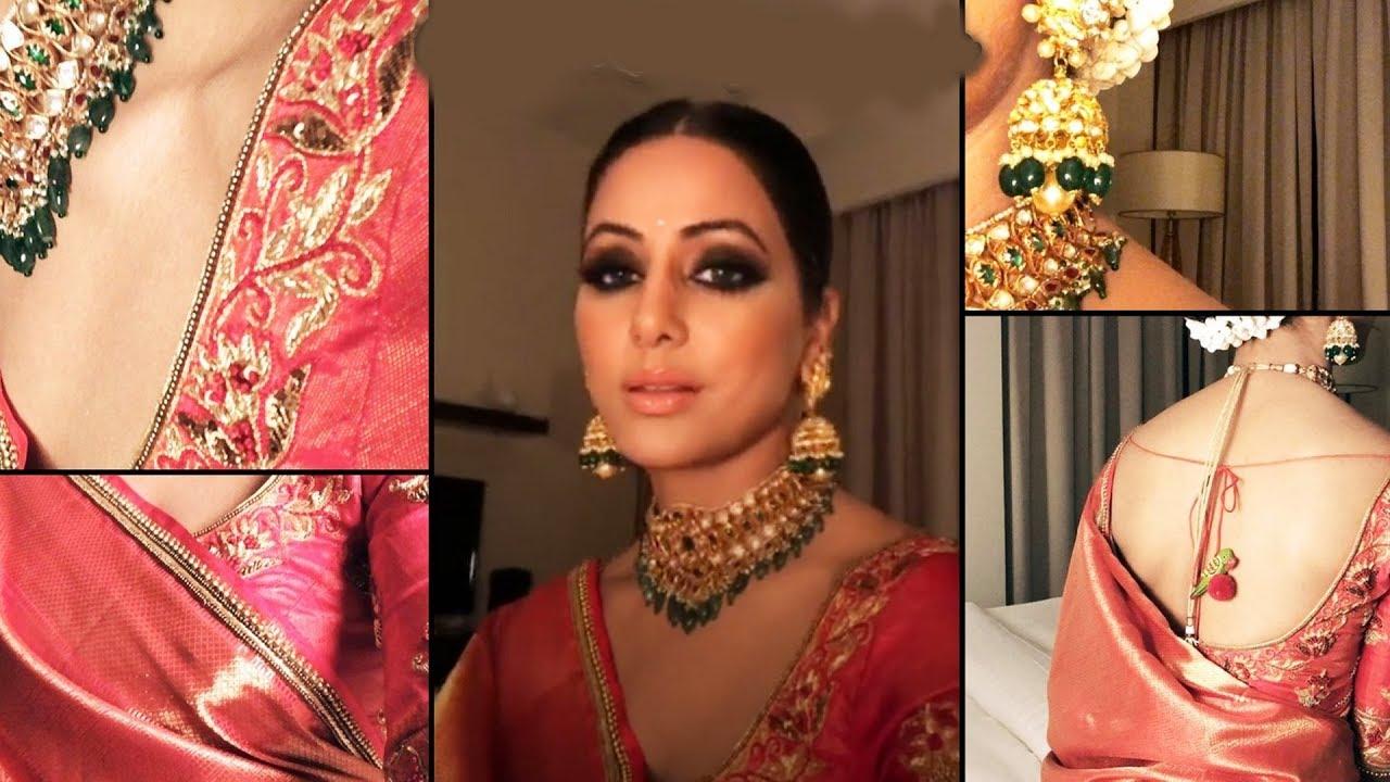 Hina Khan WEARS Kanjivaram Saree To Impress FANS - YouTube