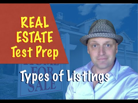 Types of listings - Real Estate exam