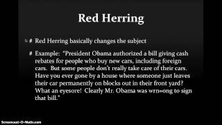 Red Herring vs. Straw Man