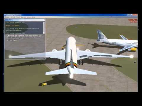 FSX   Air Zimbabwe 777   Gatwick to Heathrow   2014 07 22  12 49 25   End   Landing