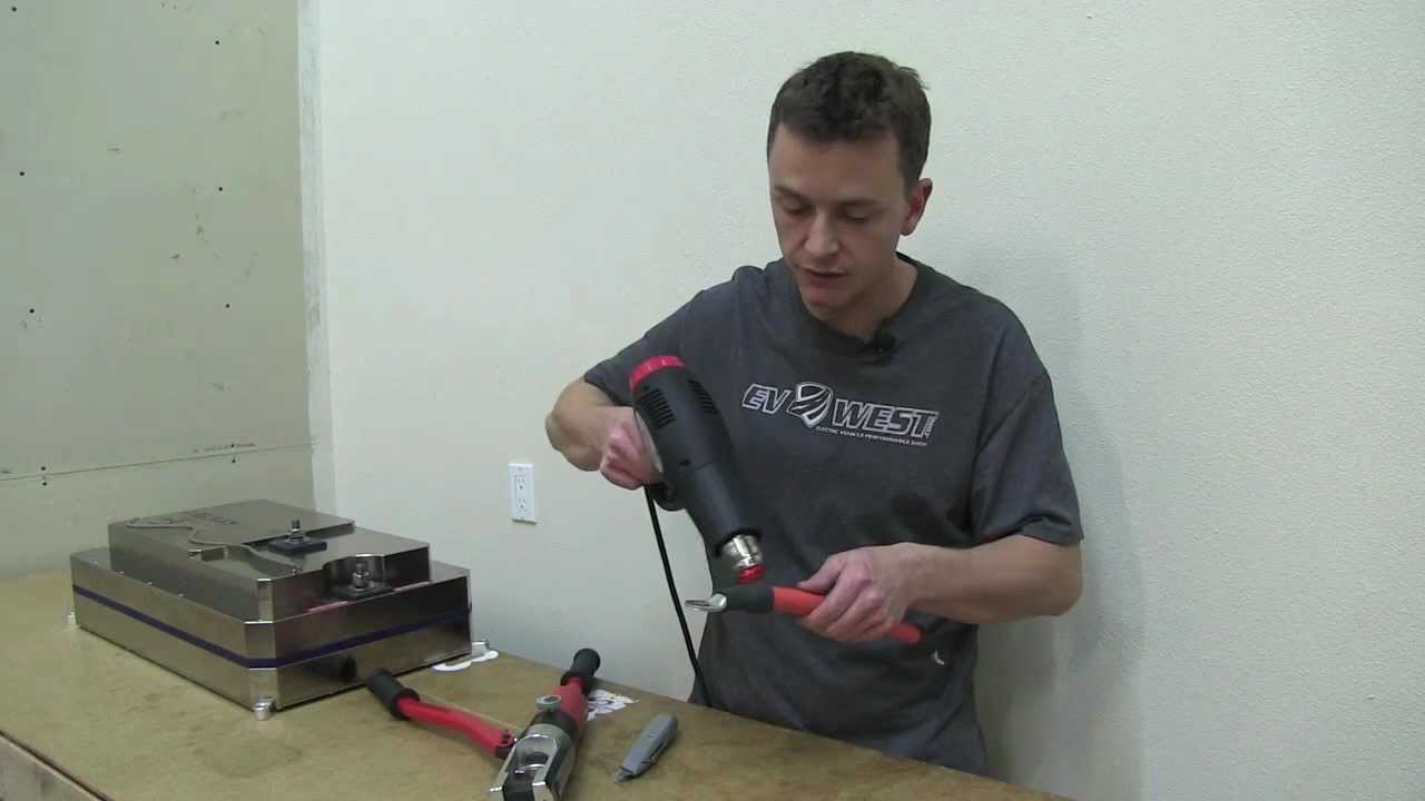 EV West - Heavy Gauge Cable Terminal End Crimping Guide - YouTube