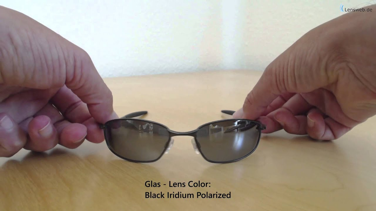 d6bad9c57a Oakley Whisker - Pewter - Black Iridium Polarized - YouTube