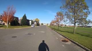 Sixième ballade du sentier au chemin & saut avec ma GoPro sur un Super Scooter.