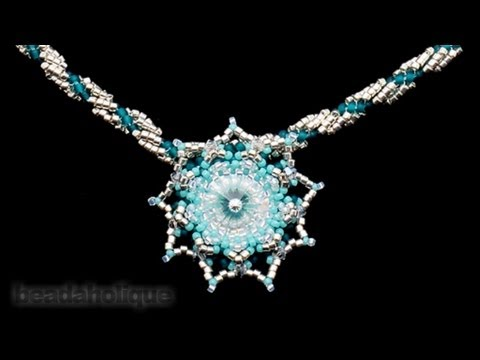 How to Embellish a Beaded Bezel for the Evening Star Necklace