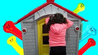 Princess Öykü play Hide and Seek with Colorful Ballons - fun kids video