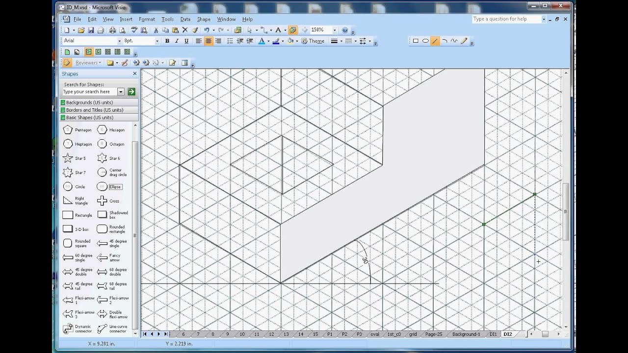 How to draw isometric shapes in microsoft visio youtube malvernweather