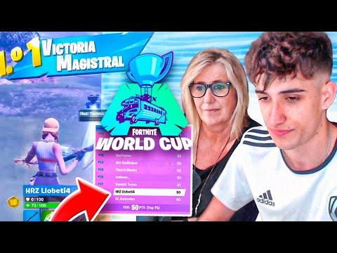 MI MADRE Y YO REACCIONAMOS A CUANDO CASI ME CLASIFICO A LA WORLD CUP | Llobeti4