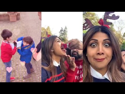 Shilpa Shetty Celebrating Christmas With Husband And Son Viaan Raj Kundra