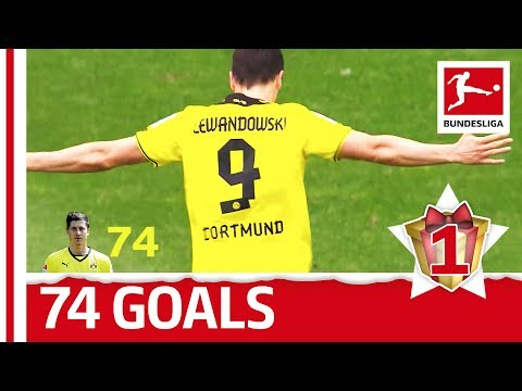 Robert Lewandowski - All Bundesliga Goals for Dortmund - Bundesliga 2017 Advent Calendar 1