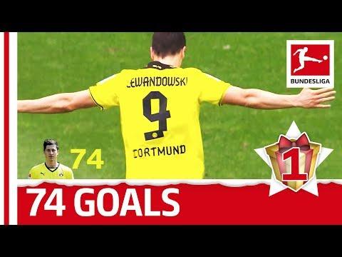 Robert lewandowski - all bundesliga goals for dortmund - bundesliga 2017 advent calendar 1