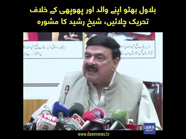 Bilawal Bhutto apny Walid aur phuphi kay khilaf tahreek chalain, Sheikh Rasheed ka mashwara