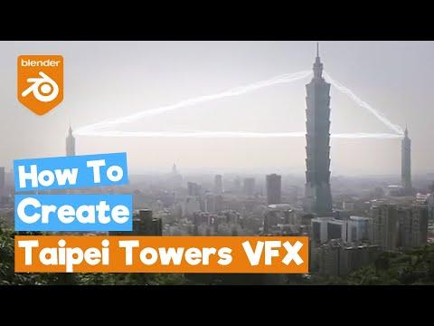 Blender 2.8 Tutorial: Taipei Towers [VFX]