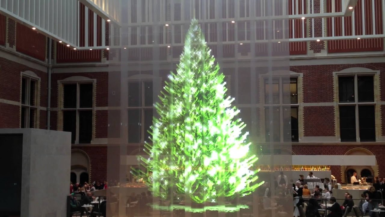 7 meter hologram christmas tree rijksmuseum amsterdam youtube