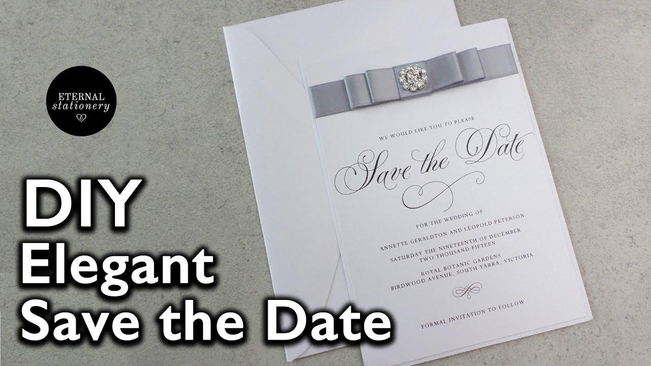 easy elegant save the date invitation wedding invitations diy