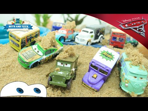 Disney Pixar Cars Lightning Mcqueen Toys with Learn Colors Video Toy for Kids - Video with Sand