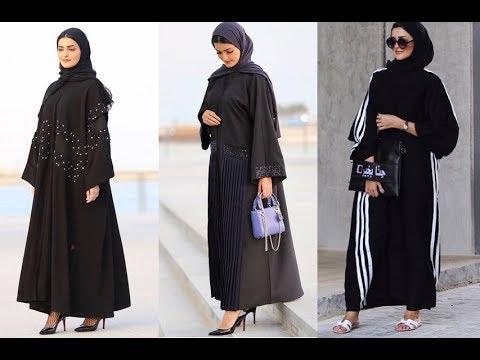 70feaecc33d84 احدث عبايات خليجية سوداء فخمة للأنيقات Latest black Abaya designs ...