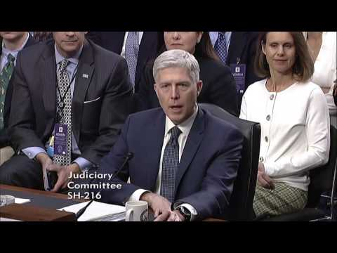 Sen. Cruz Questions Judge Neil Gorsuch at Confirmation Hearing - March 22, 2017