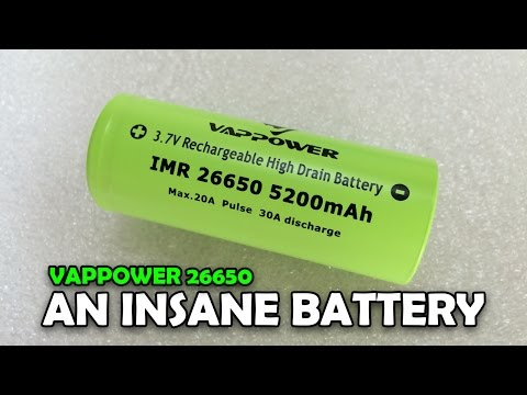 VAPPOWER 26650 5200mAh Review - This Thing is INSANE!
