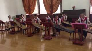 North Korea - Little Girls Sound Great Playing Cool Instrument