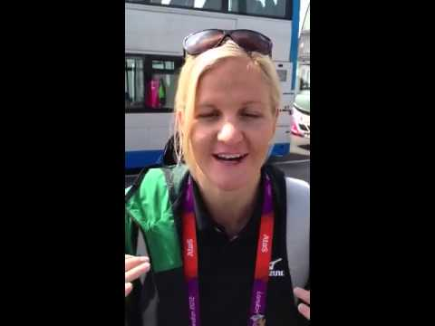 Kirsty Coventry on Olympic Pool Deck
