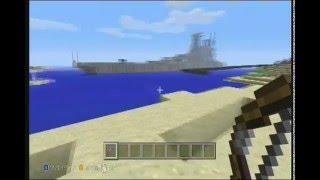マインクラフトで戦艦大和をパパとゆうたろうで作りました。