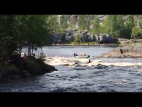 Река Чирка-Кемь. Прохождение порога Кривой на байдарке