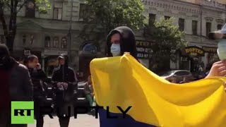 Ukraine: Nationalists rally in Kiev after clashes with Communist Party supporters