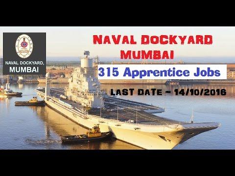 Naval Dockyard Vacancy |315 Trade Apprentice Jobs | ITI Diploma | Last Date - 14/10/16