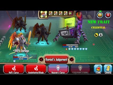 Monster Legends - Remiel level 1-130 review combat boss : War in Heaven island