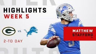 Matthew Stafford Highlights vs. Packers