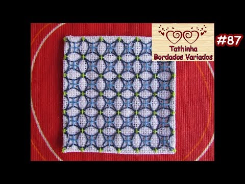 BORDADO ORIENTAL / SASHIKO EMBROIDERY - Tathinha Bordados #87