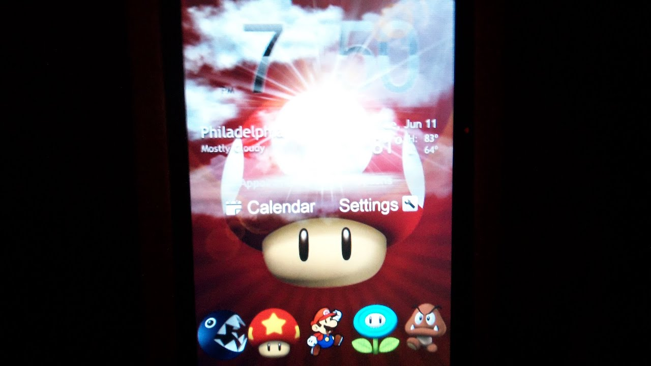 Htc Hd2 Theme Weather Widgets Mario Wallpaper And Icons Ipod Touch