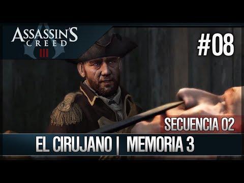 Assassin's Creed 3 - Walkthrough Español - Secuencia ADN 2 - El cirujano [3] [100%]