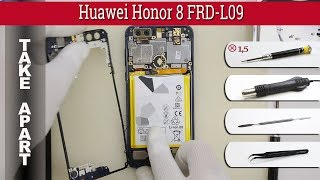 How to disassemble 📱 Huawei Honor 8 FRD-L09 Take apart Tutorial