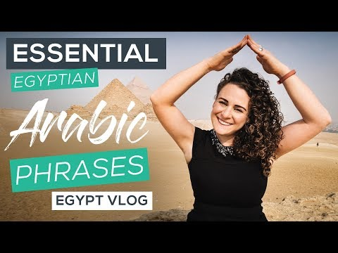 Essential Egyptian Arabic Phrases [Egypt Vlog] Part 3: Learning Arabic