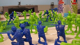 Zombie responders vs zombies army men toy review!