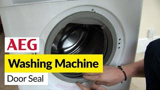 How to replace a washing machine door seal on an AEG washer