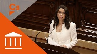 Inés Arrimadas. Discurso en pleno de investidura de Quim Torra